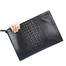 Men's Envelope Bags day cluthes Crocodile pattern pu leather male fashion Business handbag purse Men's Briefcase Messenger Bags