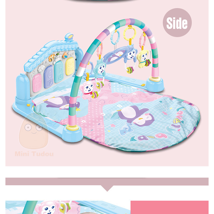 MiniTudou Baby Activity Play Mat Baby Gym Educational Fitness Frame Multi-bracket Baby Toys 0-12 Months Game Mats For Kids 9
