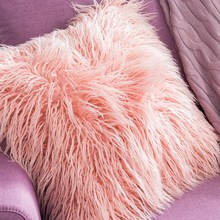 1PC Luxury Plush soft solid fur feather Cushion Cover Pillow cover case elegant Cushion Cover case sofa bed home car room decor