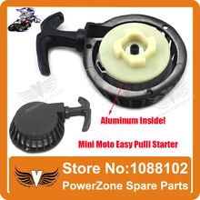 Aluminum Alloy  Pull starter Easy to Pull Fit 47cc 49cc 2 Stoke Mini Dirt  Pocket Pit Bike Moto ATV Quad Free Shipping