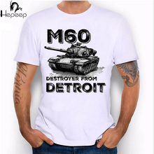 2017 new Summer cool M60 Destroyer from Detroit Design T Shirt Men's High Quality tank print Tops men short sleeve novelty tees(China)