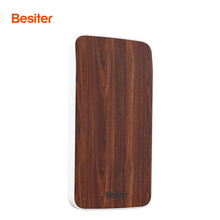 Besiter Power Bank 4000mah/8000mAh Portable Battery Packs Ultra Thin for Smart Phones Battery Charger Wood Design USB Charger(China)