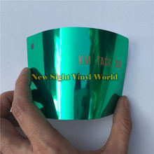 High Quality Flexible Light Green Chrome Car Vinyl Film For Car Styling Bubble Free(China)