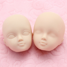 100pcs/lot Soft Plastic Doll Heads For 1/6 Dolls Make Up Face Toys Doll Accessories Heads for DIY Make Up Girls Gifts(China)