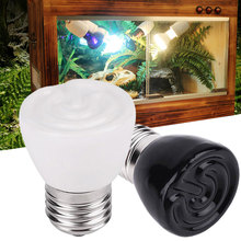 E27 100W Ceramic Infrared Reptile Brooder Heating Light Bulb Pet Product Black White Emitter Lamp(China)