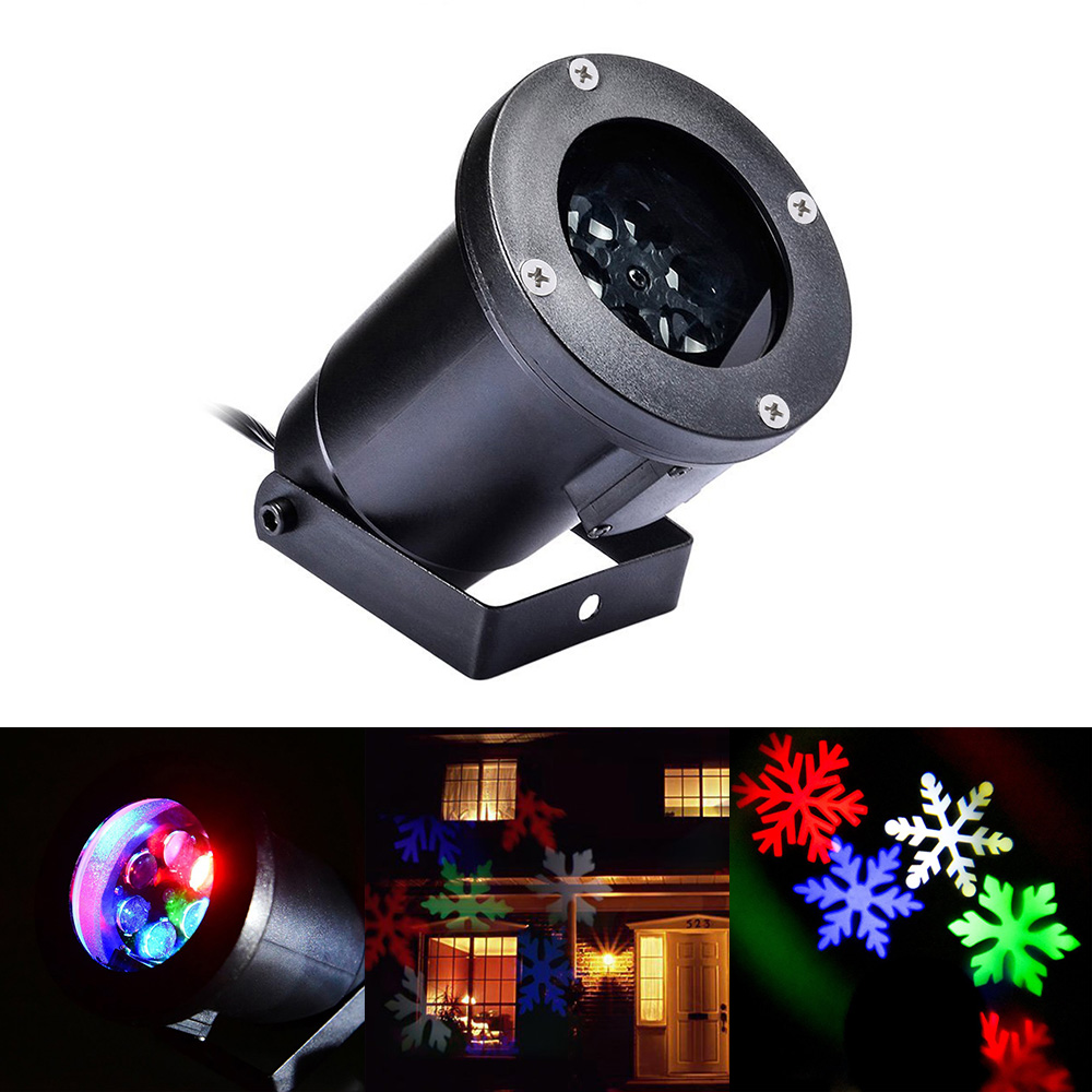Waterproof Projector Lamps RGBW Snowflake LED StageLights Outdoor/Indoor Decor Spotlights for Christmas Party Holiday Decoration<br><br>Aliexpress