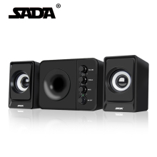 SADA Usb Multimedia Stereo Computer Speakers 2.1 For PC Desktop Laptop Mobile Phone,External Bass Speaker Box 3.5mm Combination(China)