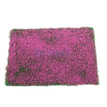 New 2017 Brand New  Green Grass Mat Railway Model Train HO Layout 20.5 x 29.5cm w/ Plum Color Flower