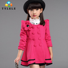2016 Girls Jackets & Outerwear Children Clothing Spring Autumn Baby Girls Coat Fashion Kids Cardigan Clothes Age 4-12T