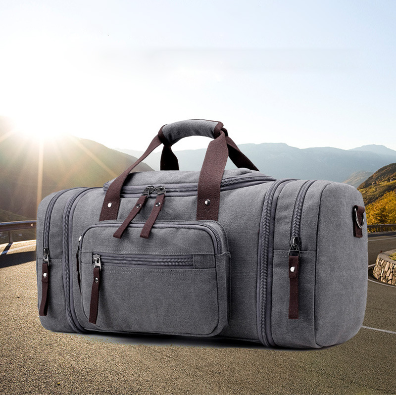 Men Travel Sports Bag Large Capacity Male Carry on Hand Luggage Travel Canvas Duffle Bags Travel Tote Large Weekend Gym Bags Men<br>