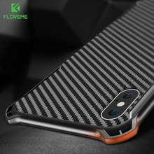 FLOVEME Shockproof Case For iPhone X 10 Luxury Bumper Phone Cases For iPhone 8 7 6 6s Plus Black Cover Mobile Accessories Coque(China)