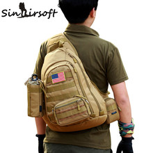 New SINAIRSOFT Male Chest Sling backpack Men's bags One Single Shoulder Man Large Travel Military Backpacks Molle Bags LY0034(China)