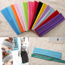 LNRRABC 2Pcs Hot Comfortable Multicolor Women Headband Turban Wide Sports Yoga Stretch Elastic Pure Color Sweat Headwear
