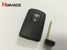 New 2 Button Remote Smart Key Case Shell  For Toyota Runner Land Cruiser Prius V Crown RAV4 Fob