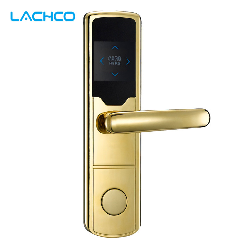 LACHCO Electronic Card Door Lock Smart Digital Card Lock For Home Hotel Office Room Free-Style Handle  L16043SG<br>