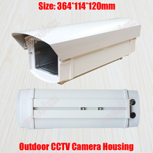 36.4cm Length Outdoor Waterproof CCTV Camera Housing Weatherproof Aluminum Alloy Casing for Security Zoom Box Body Bullet Camera