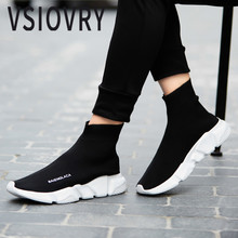 Buy VSIOVRY Men Socks Sneakers Summer Beathable Elastic Knit Women Running Shoes Unisex Sport Shoes Lightweight Trainers Krasovki for $29.82 in AliExpress store