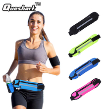 Men Women Running Waist Bag Fitness Packs For Music With Headset Hole-Fits Smartphones Sports Running Belt Water Bags(China)