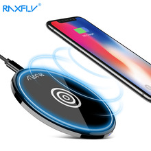 RAXFLY Qi Wireless Charger For Samsung S7 S6 Edge USB Charger For Samsung Galaxy S8 Portable Charging Stand For iPhone X 8 Plus(China)