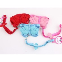 Pet Dog harness Leash angel wing & leash leads chest back type pink blue red Free Ship