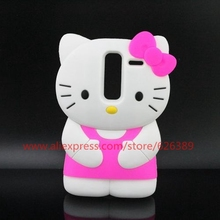 Silicone Material 3D Cartoon Hello Kitty Design Soft Case Cover For LG Zero / LG Class LS675 H650AR H650E