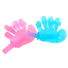 Pet Dog Cat Combs Cleaning Massage Bath Fingers Glove Dog Crystal Bath Brush Pet Grooming Tool Wash Head Massage Brush