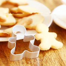 Christmas Cookie Cutter Tools Aluminium Alloy Gingerbread Men Shaped Holiday Biscuit Mold Kitchen cake Decorating Tools D859