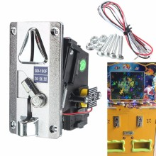 Plastic Electronic Advanced Front Entry CPU Multi Coin acceptors,Comparison Coin Selector For Vending Machines Arcade Machines