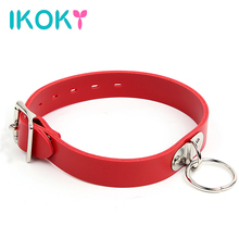 Buy IKOKY Neck Collar Ring Roleplay Adjustable Belt Slave SM Bondage Restraints PU Leather Sex Collars Couples Women Men