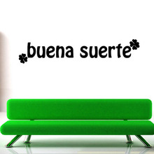 Simple Design Four Leaf Clover Good Luck Spanish Wall Sticker Large Size Living Room Home Decor Wall Mural