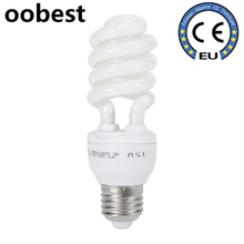 oobest 15W E27 Energy Saving Lamp Spiral Small 180-230V Bulb Light Screw Base Yellow Light(China)