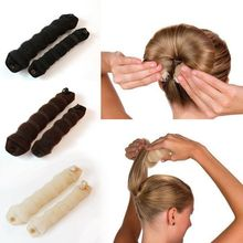 2 PcsPlate Hair Donut Bun Maker Magic Foam Sponge Hair Styling Tools Princess Hairstyle Hair Accessories Elacstic Hair Bands