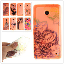 Newest Fashion Colorful Phone Cover silicone soft TPU Case For Microsoft Nokia Lumia 630 N630 Transparent Hollow Phone Case