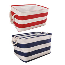 1pcs EVA Storage Box Navy Style Foldable Bedroom Desk Makeup Clothes Toys Storage Boxes For Home Decor Supplies(China)