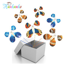 1pcs Magic Flying Butterfly Iron Wire Frame Wind UP Paper Butterflies Magic Tricks Toys Wedding Surprising Gift