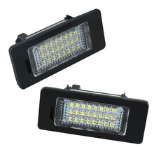1pair E-marked OBC Error Free 24 LED White License Number Plate Light Lamp For BMW E81 E82 E90 E91 E92 E93 E60 E61 E39 X1/E84(China)