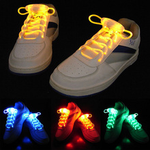 100pair Party Skating Charming LED Flash Light Up Glow Shoelaces Shoe Laces Shoestrings(China)