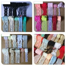 1-3.5cm multicolor elastic lace ribbon no-elastic Lace Trims lace fabric border sewing material accessories wedding decoration