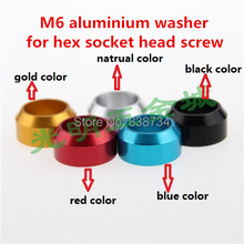 10pcs m6 aluminium alloy anodized color car model crown washer / gasket / shim ( please note which color you need)(China)