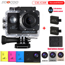 Original SOOCOO C30R 2.4G Wireless Remote Action Camera Real Voice Adjustable Angle Fish Eye Waterproof 30m 4K Wifi Sport DV(China)