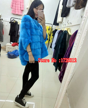 Mink new mink sets in the long paragraph fur coat large size loose bat shirt the first mink mink coat(China)