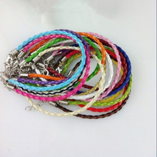 Buy Free 100pcs/Lot 8inch Bracelets & Bangles Pu Bracelet Candy Color PU Knitted Bracelet Leather Cord Bracelet for $10.80 in AliExpress store
