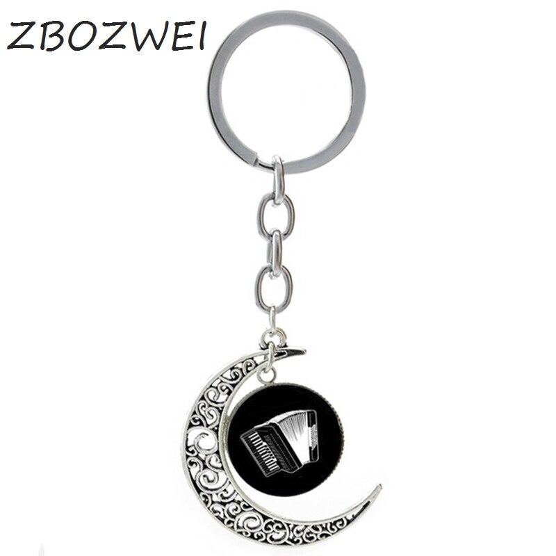 ZBOZWEI Drum Kit DJ Turner Mixer Musician keychain Guitar Violin Accordion Piano Trumpet silhouette music key chain jewelry