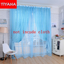 Romantic voile curtains for living room bedroom rose yellow pink blue purple candy colors window curtains new design WP217&30