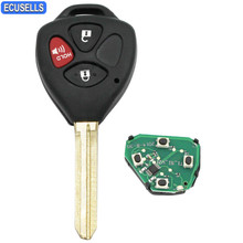 High Quality 3 Button Remote Key Smart Car Key Fob 433MHz For Toyota 2005-2008 Hilux With 4D67 Chip(MDL B42TA) Uncut Blade(China)