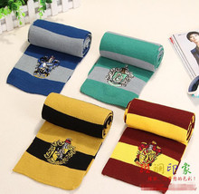 DHL free shipping Wholesale Harri Potter Scarf Four College Scarf Gryffindor Slytherin Scarf Tassel Scarf(China)