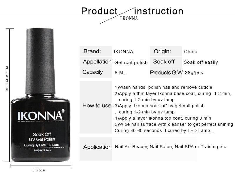 Ikonna#65 8 Ml Paleturquoise Nail Polish Mood Nail Polish Nail ...