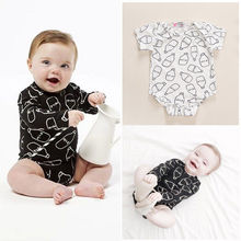 Summer style children bodysuits cartoon short sleeve baby climbing clothes sets animal one-piece infant clothing