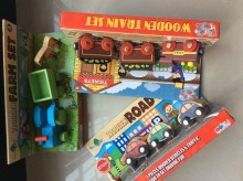 Brand wood Vehicle toys /  wooden traffic railway track train/farm truck/road car set for Kids Child birthday gifts classic toys