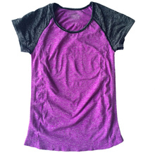 VEAMORS Quick Dry Yoga Shirts, Women Sweat Breathable Fitness Sports T-shirt , Short Sleeve Patchwork Gym Tees Yoga Running Tops(China)